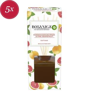 AIR WICK - 5er-Set Duftspender Botanica Marokkanische Minze & Pink Grapefruit - 5 x 80 ml