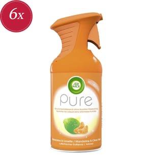 AIR WICK - 6er-Set Raumspray Pure Mandarine & Limette - 6 x 250 ml