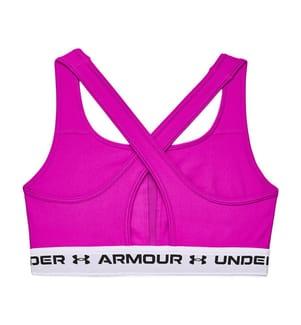 UNDER ARMOUR - Brassiere-BH UA Crossback Mid - Dunkelrosa