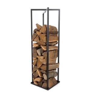 Brennholzregal 34 x 34 x 118 cm - Schwarz