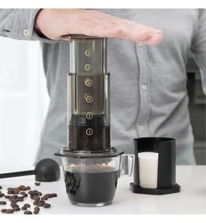 Manuelle Kaffeepresse - Schwarz Und Transparent