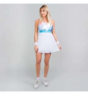 Ankea Kleid (2 in 1) - Weiss, Aqua