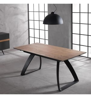 Ausziehbarer Tisch 170/270 x 90 cm Barret - Braun und Schwarz