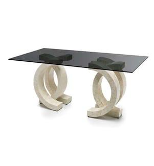 Tisch Olimpia - 200 x 100 x 76 cm - Grau und Beige