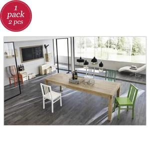 2er-Set Stühle aus lackiertem Holz Mina - Grün