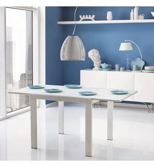 Ausziehbarer Tisch 90/163,5 x 90 cm Nuovo Banner Uno - Weiss