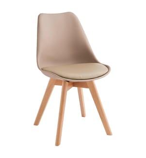 4er-Set Stühle Tom - Dunkelbeige und Hellbraun