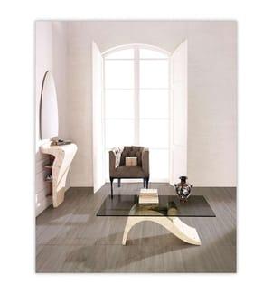 Couchtisch Dove - 110 x 60 x 40 cm - Schwarz und Weiss
