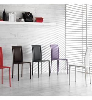 4er-Set Esszimmer-Stühle Net - Dunkelgrau