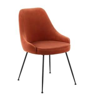 Stuhl Nandy - 49,5 x 48,5 x 80 cm - Dunkelorange und Schwarz