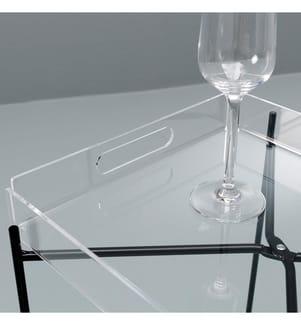 Beistelltisch Nagpur  35 x 30 x 54 cm -  Schwarz und Transparent