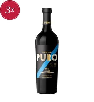 3x Puro Grape Selection Bio 2018