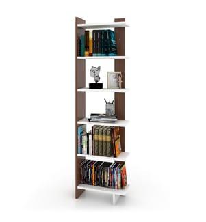 Bücherregal Order - Weiss und Braun