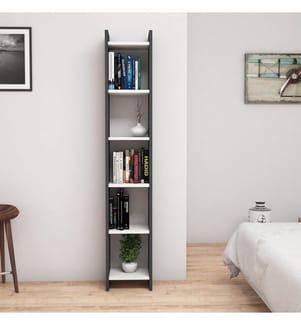 Bücherregal Emma 3 - Weiss, Anthrazit