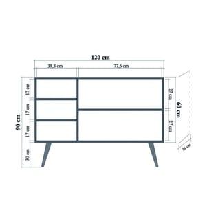 Sideboard Mega - Braun