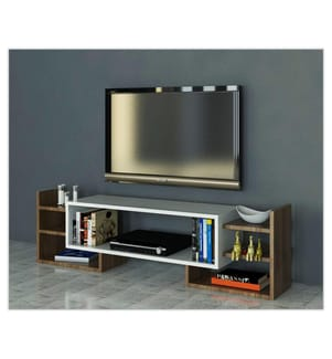 TV-Möbel Sema - Weiss und Braun