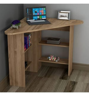 Eck-Schreibtisch Corner - Hellbraun