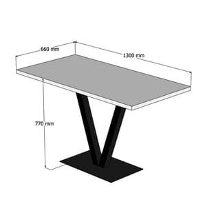 5-teiliges Tisch & Stuhl-Ensemble Puqa Design Silverbirch - Schwarz