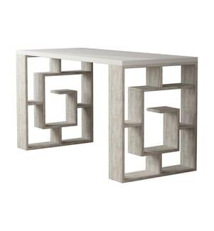 Schreibtisch Maze - Weiss und Hellgrau