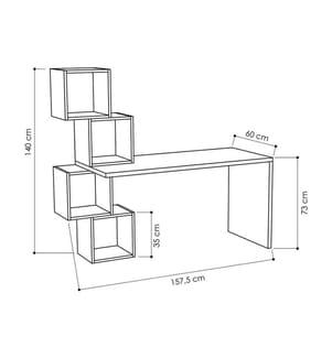 Schreibtisch Balance - Weiss und Anthrazit