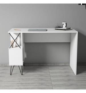 Schreibtisch - Weiss und Schwarz