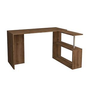 Eck-Schreibtisch Cayko - Braun