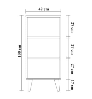 Nachttisch Two 121 - 60 x 61 x 40 cm - Hellbraun und Dunkelgrün