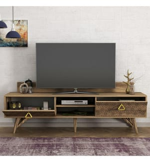 TV-Möbel Yakamoz - Braun