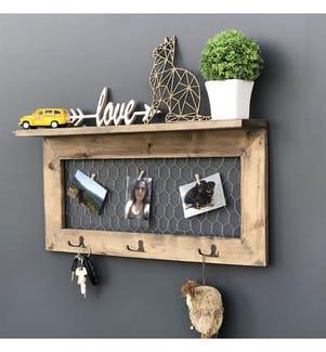 Holz-Wandregal 60 x 30 x 11 cm - Braun