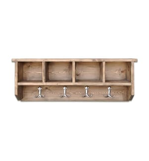 Holz-Wandregal 80 x 30 x 13 cm - Braun