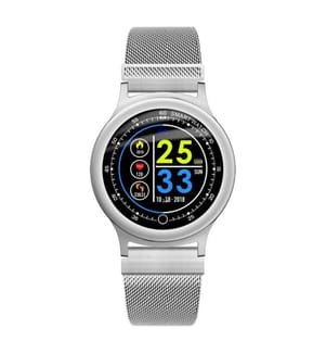 INKASUS - Wasserdichte Smartwatch, Dynamic V2 Edition, Stahl Silber