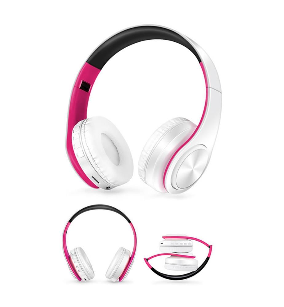 INKASUS - Bluetooth-Kopfhörer V4.0, Rosa und Weiss