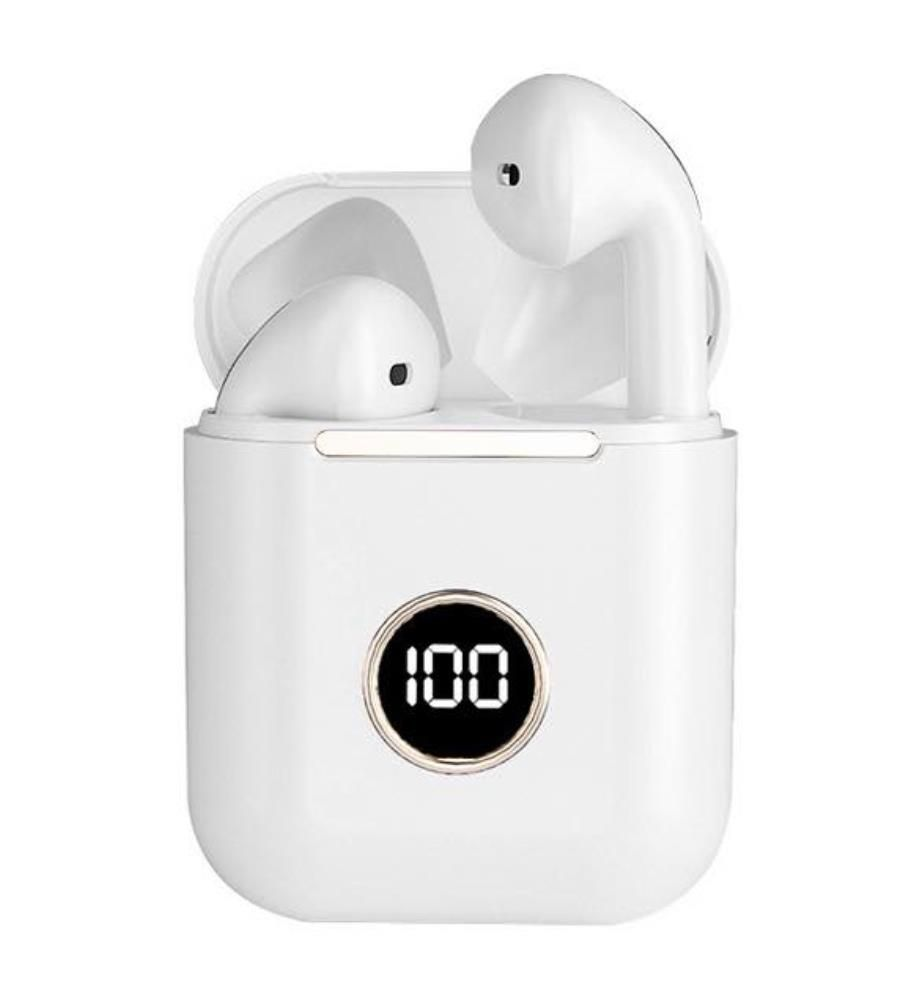 INKASUS - Drahtloses Bluetooth 5.0-Headset - Mira Pro LCD Edition - Weiss
