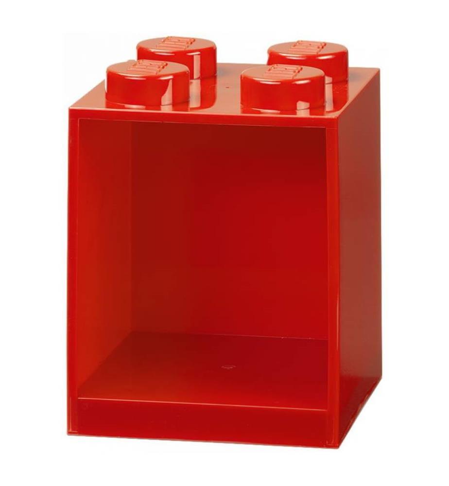 LEGO - Bausteinregal mit 4 Knöpfen - Rot