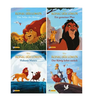 4er Disney König d.Löwen 1-4