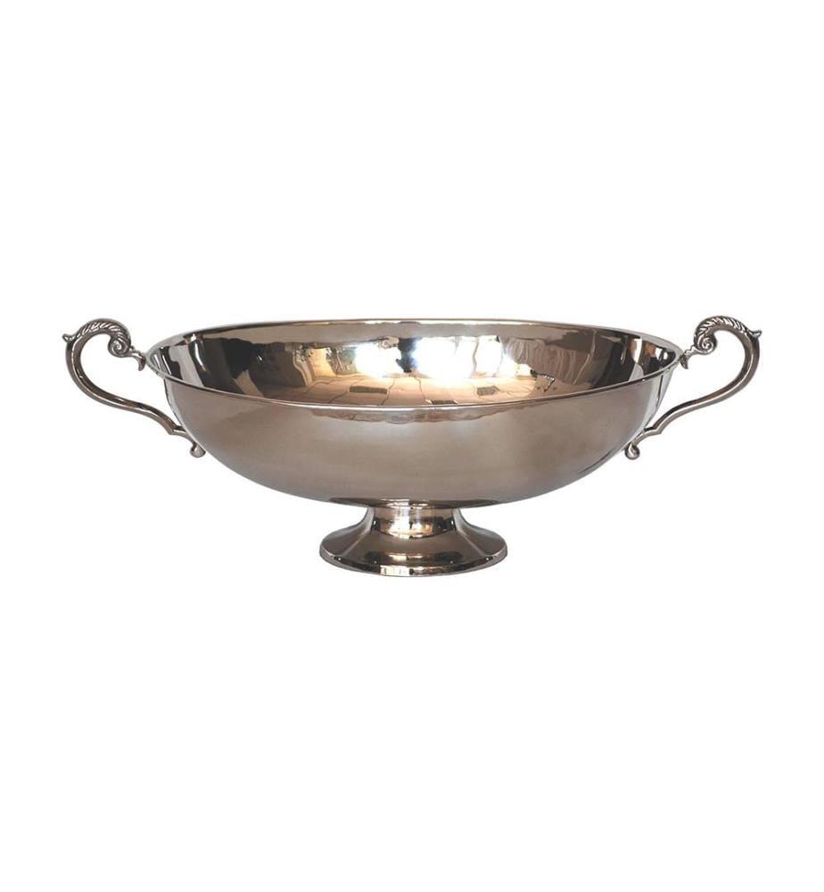 Ovale Schale mit Griffen 72x32xh21 cm - Silber