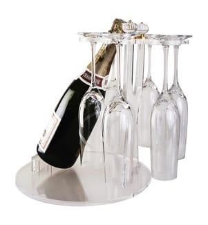 6 Glas- und Acrylflaschenhalter - Transparent