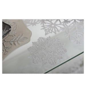 6er-Set Schneeflocken-Untersetzer - Silber