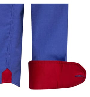 SIR RAYMOND TAILOR - Hemd Patcho - Blau und Rot