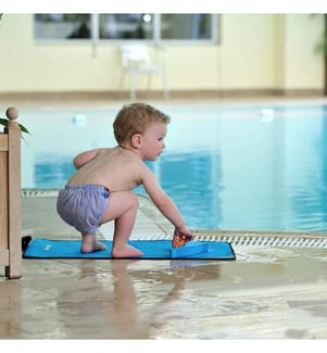 Schwimmwindel AquaNappy blau gestreift