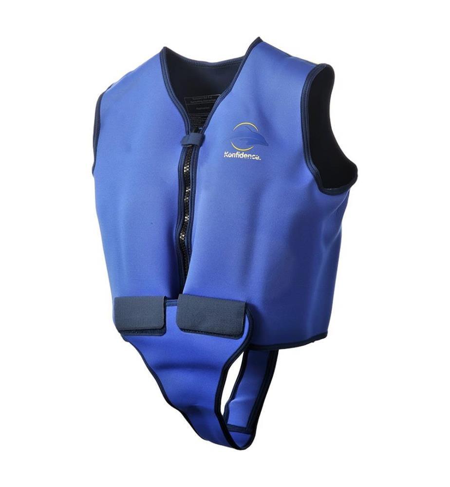 Bisal Gilet de natation pour adultes bleu-jaune tour de buste 86-96 cm