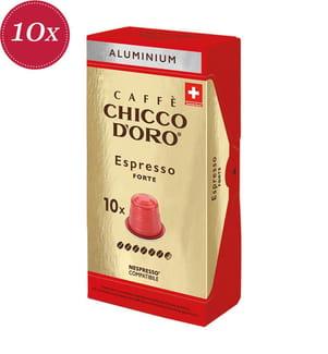 100 Kapseln Chicco d'Oro Espresso Forte - Kompatibel mit dem Nespresso® System