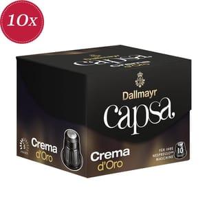 100 Kapseln Dallmayr capsa Crema d'Oro - Kompatibel mit dem Nespresso® System