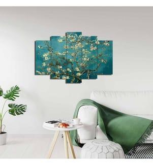 Quintychon Wandbild - 2 x (19 x 40) + 2 x (19 x 50 ) + 19 x 60 cm