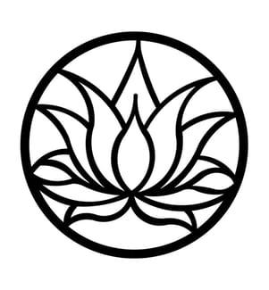 Wanddekoration Tulpe Natur - Schwarz