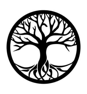 Wanddekoration Baum Natur - Schwarz