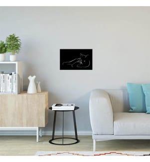 Wanddekoration Katze Tiere - Schwarz