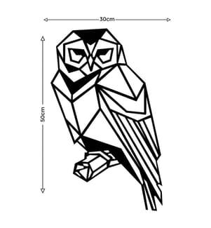 Wanddekoration Eule Tiere - Schwarz