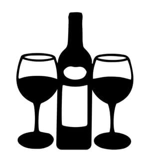 Wanddekoration Wine - 43 x 51 cm