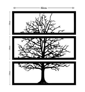 Wanddekoration Tree - 3er Set